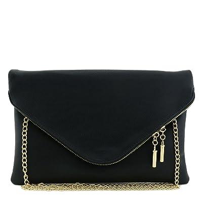 cheap shop for authentic men/man Large Envelope Clutch Bag with Chain Strap