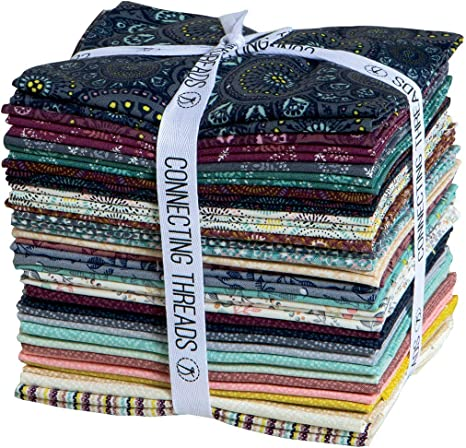 Connecting Threads Print Collection Precut Quilting Fabric Bundle Tessallations - 5 Charm Squares
