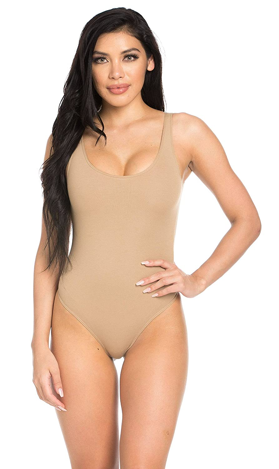 a50eda5e3863 Basic Open Back Thong Bodysuit in Nude at Amazon Women's Clothing store: