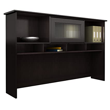 Amazon Com Bush Furniture Cabot Hutch In Espresso Oak Kitchen Dining