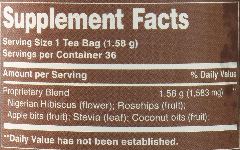 Amazoncom The Republic Of Tea Natural Hibiscus Superflower Tea