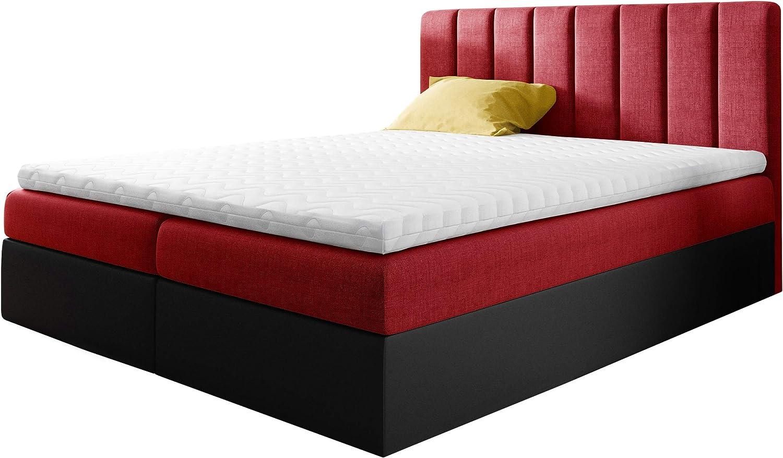 Cama con somier Govi tapizada con 2 cajones, cama doble ...