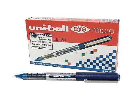 inchiostro blu Uni-ball Super Ink Penna rollerball UB-150 Eye Micro pennino da 0,5 mm scatola da 12 pezzi