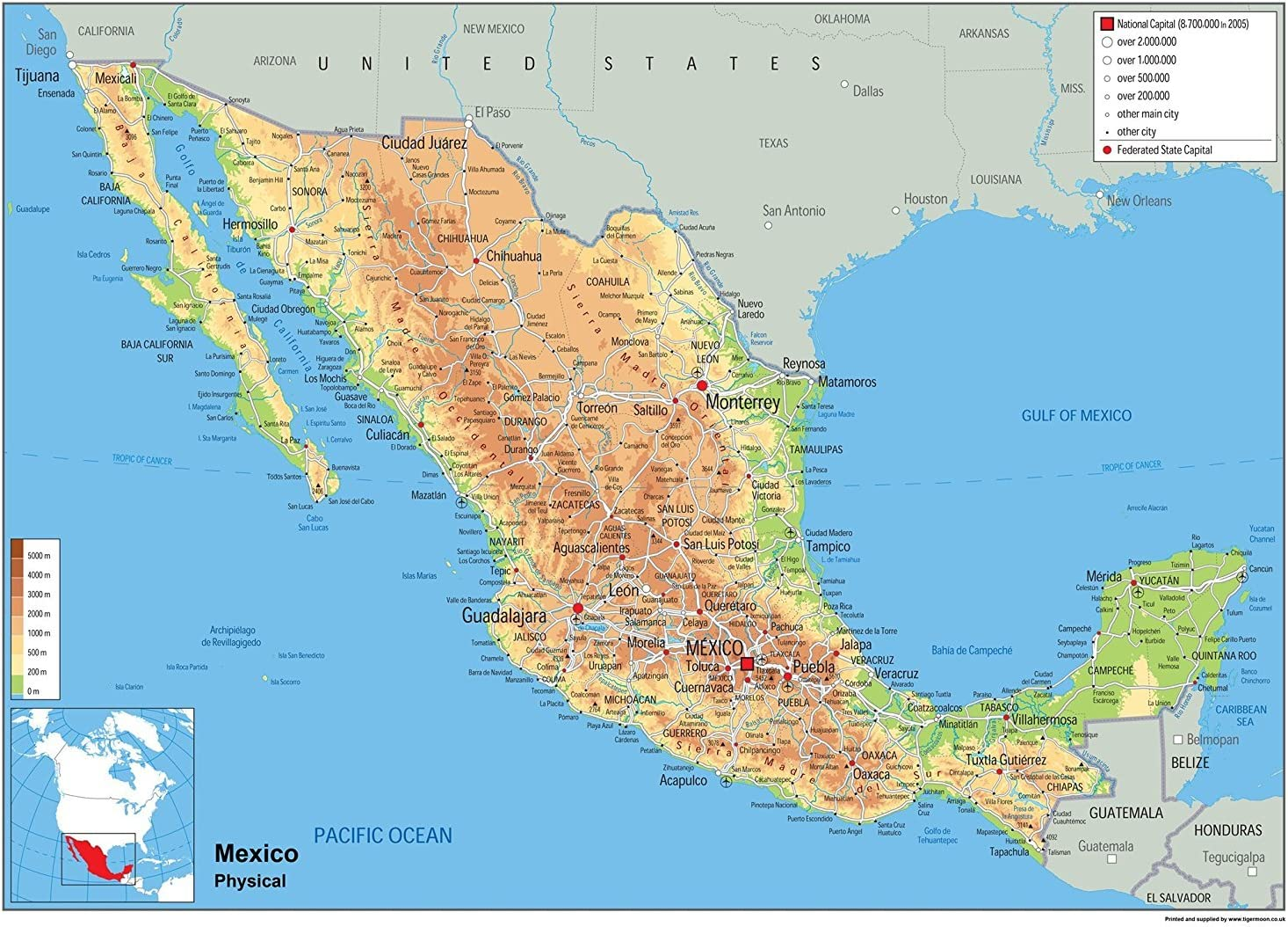 Cartina Del Messico Politica.Mexico Planisfero Fisico Carta Plastificata Ga A1 Size 59 4 X 84 1 Cm Amazon It Cancelleria E Prodotti Per Ufficio