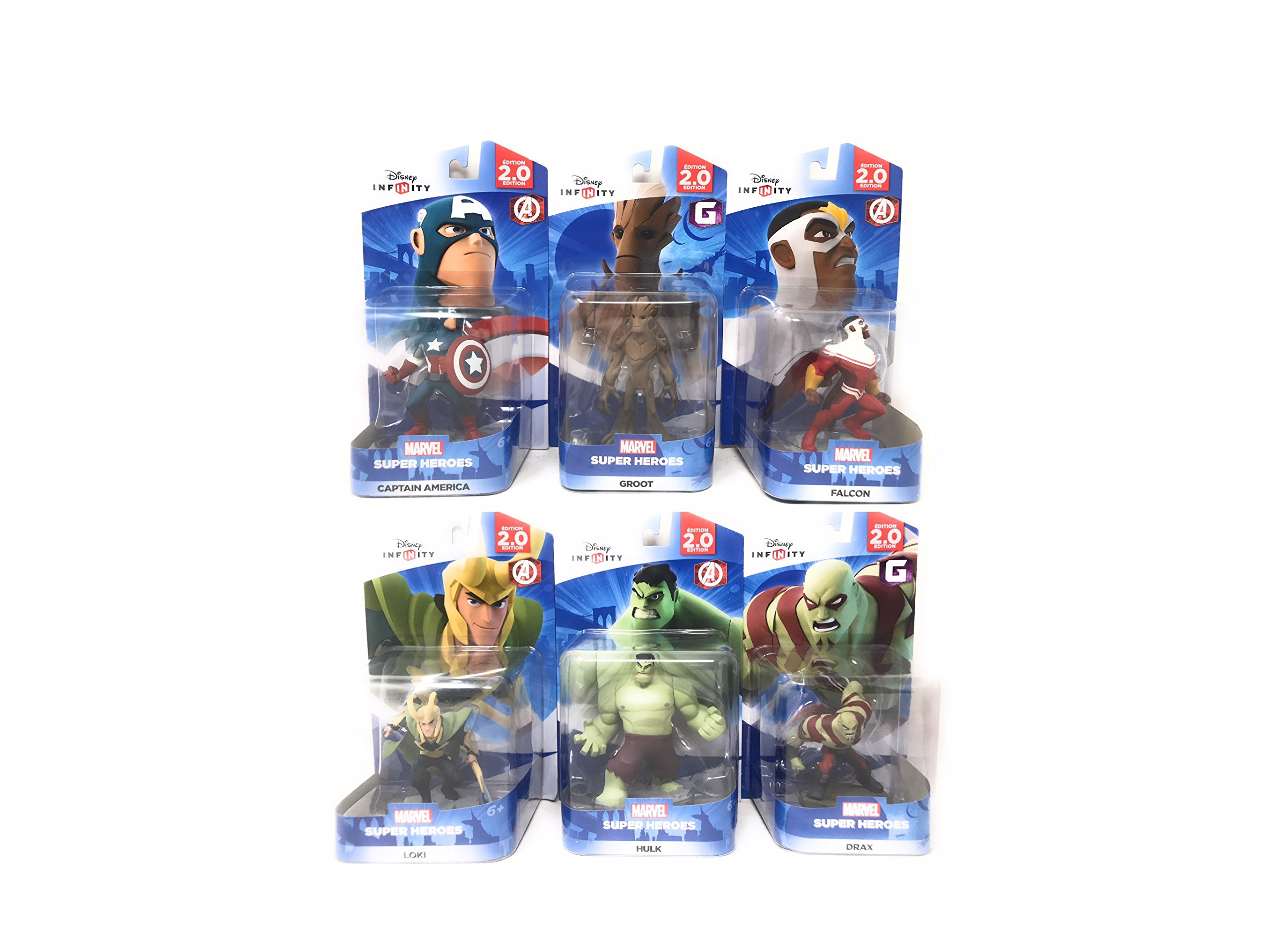 Disney Infinity: Super Heroes (2.0 Edition) Avengers Captain America, Hulk, Falcon, Loki, Groot & Drax (2.0 Series) - Not Machine Specific