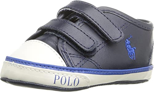 Polo Ralph Lauren Daymond Ez Layette Navy Leather Baby Soft Soles   Amazon.co.uk  Shoes   Bags a08d102280c4
