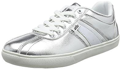 Lico Mädchen Tamara Sneaker, Silber (Silber/Weiss), 33 EU