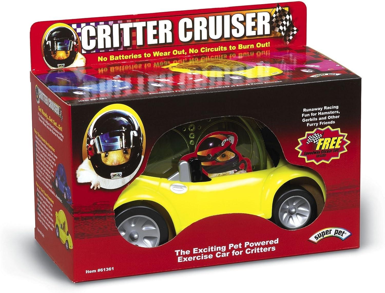 Super Pet El Critter Cruiser de Kaytee es un Juguete para Que hámsteres, Ratones, jerbos y Otros Animales pequeños realicen Ejercicio de Manera interactiva (los Colores Pueden Variar).