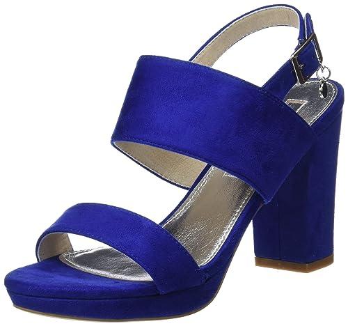 XTI 30753 Scarpe con Cinturino alla Caviglia Donna Blu Blue 36 EU