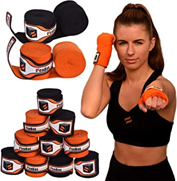 """New Hand Wraps Wrist Boxing 3 Pack Velcro Workout Gym Professional Cotton 120/"""""""