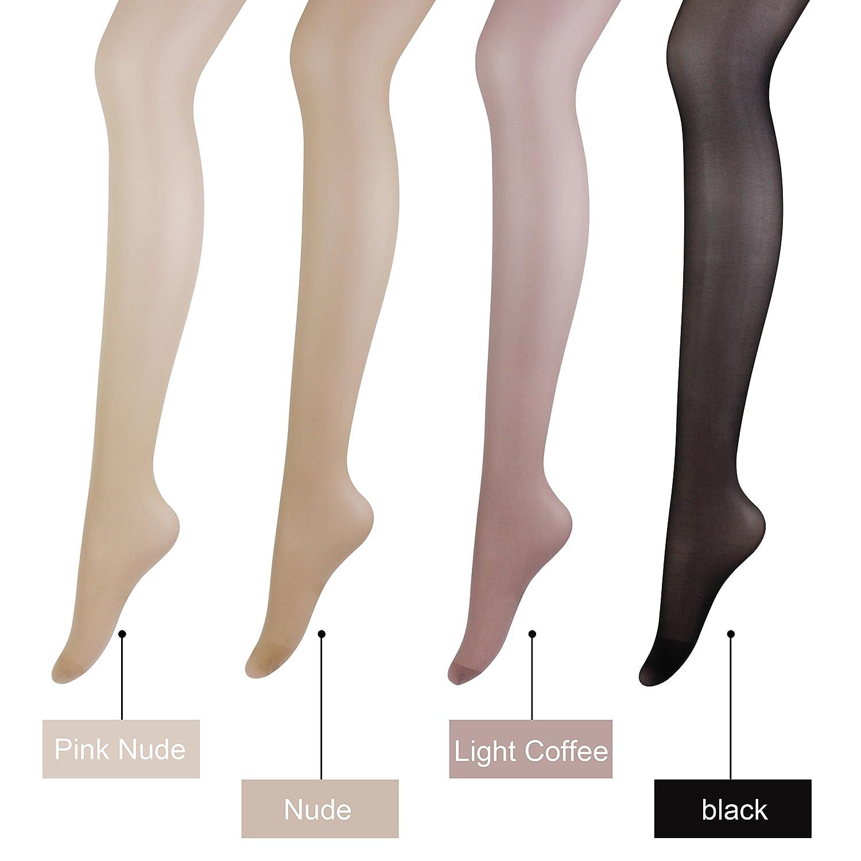 7cae04abb603f K.T. Fancy Women's 4 Pack Run Resistant Pantyhose Control Top Leggings  Opaque Silk Sheer to Waist Tights (Coffee-4 pcs): Amazon.com.au: Fashion