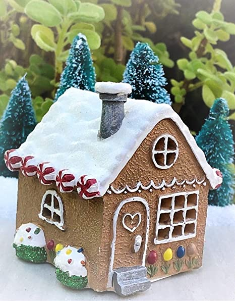 Amazon Com Miniature Mini Christmas Light Up Gingerbread House