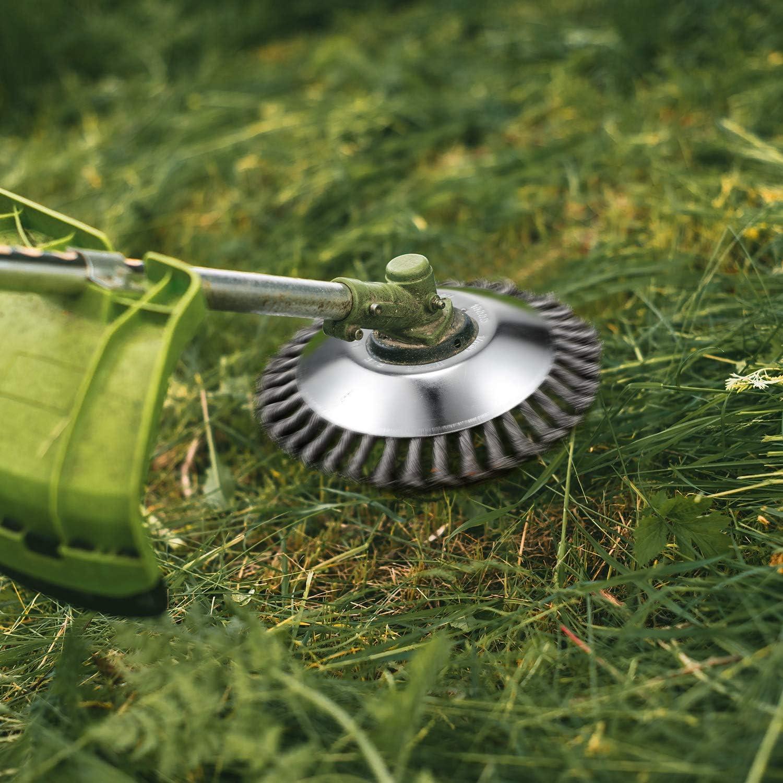 Lawn Mower Grass Trimmer Head Steel Wire Brush Mower Cutter Garden WeedingOH