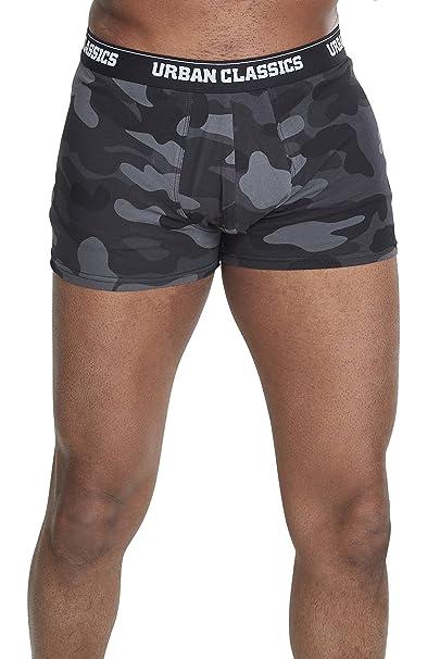 Urban Classics 2-Pack Boxer Shorts, Mehrfarbig (Dark Camo 00784 ...