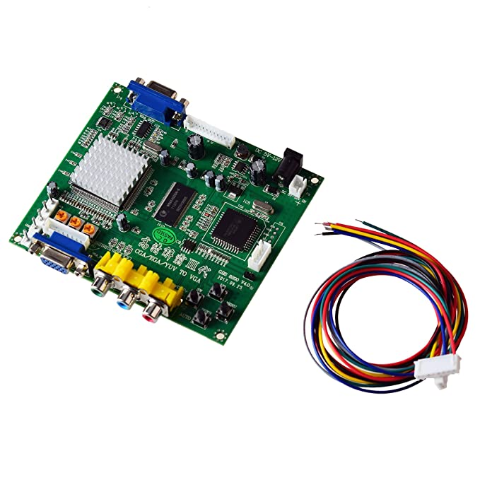 Mcbazel Juego de arcade RGB / CGA / EGA a VGA HD Tarjeta de conversión de salida de video juego para Arcade Game Monitor a CRT LCD PDP Projector