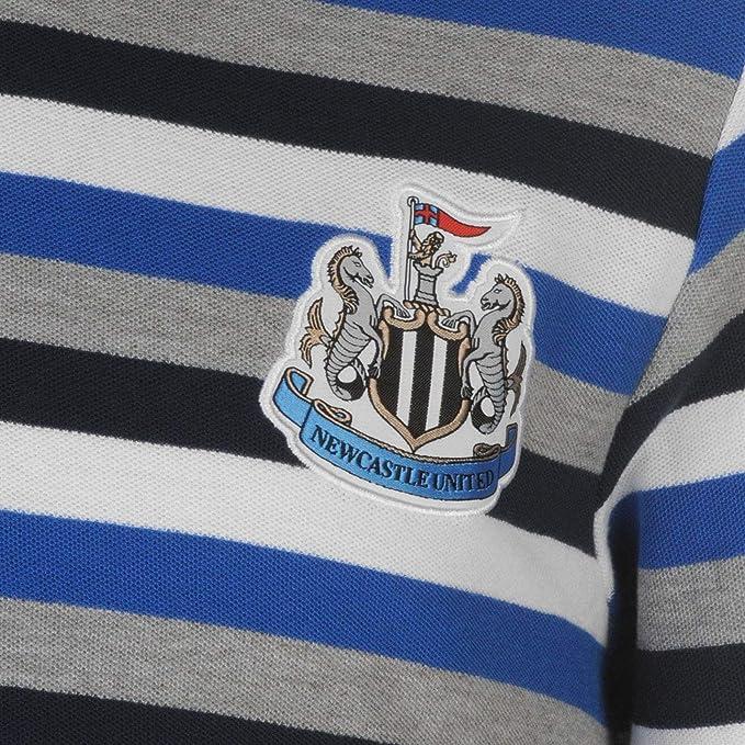 Newcastle United - Polo para Hombre, diseño de Rayas, Color Azul y ...