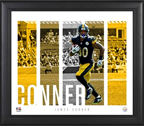 newest 709b3 ecd68 Amazon.com: James Conner Pittsburgh Steelers Framed 15