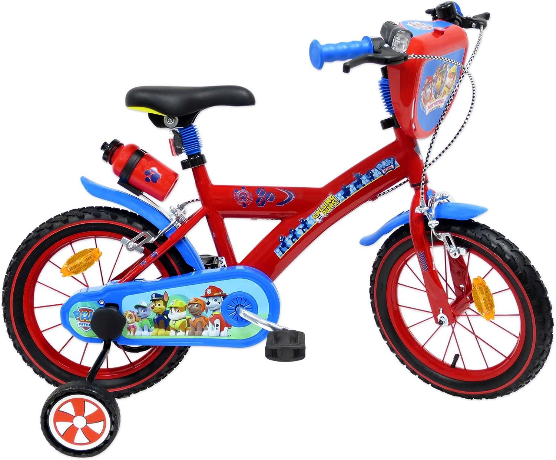 EDEN-BIKES Pat Patrulla Canina Bicicleta Infantil, Multicolor, 14
