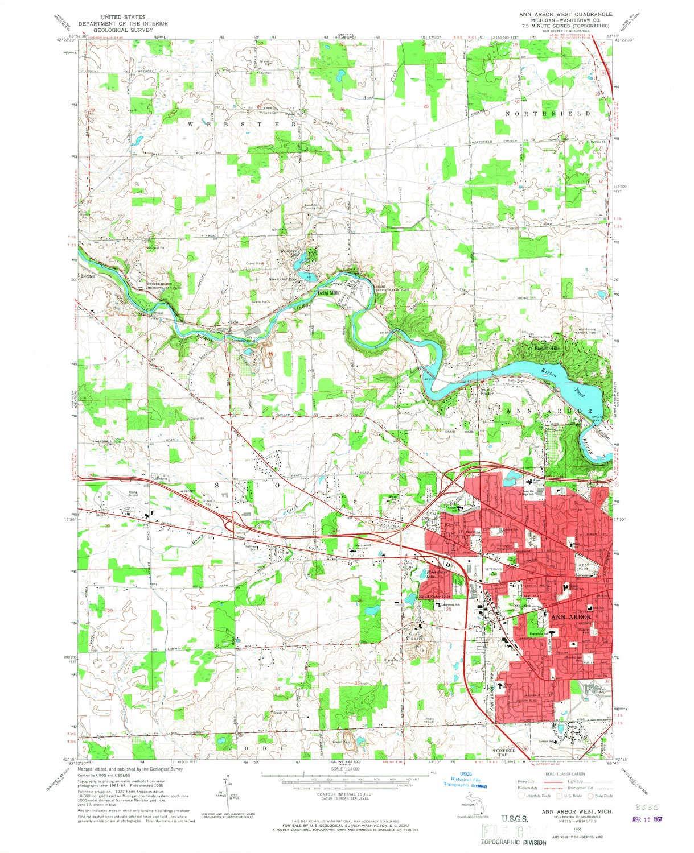 Amazon.com : YellowMaps Ann Arbor West MI topo map, 1:24000 ... on map of bellevue mi, map of burtchville mi, map of goodells mi, map of britton mi, map of huron river mi, map of grosse pointe farms mi, map of port sanilac mi, map of filion mi, map of east jordan mi, map of cannonsburg mi, map of irish hills mi, map of three oaks mi, map of alcona county mi, map of saint clair shores mi, map of buchanan mi, map of reading mi, map of pleasant ridge mi, map of bangor mi, map of chesterfield twp mi, map of north oakland county mi,