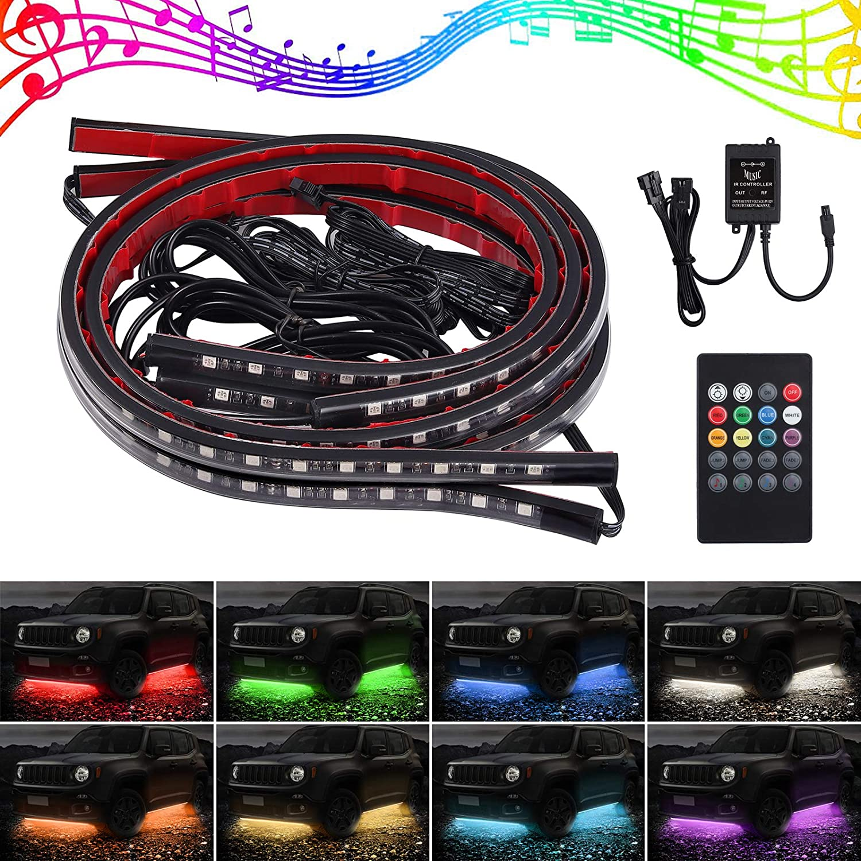 FOOTWELL SOUND MUSIC SENSOR RGB LIGHT KIT 2 x 30CM RGB STRIPS