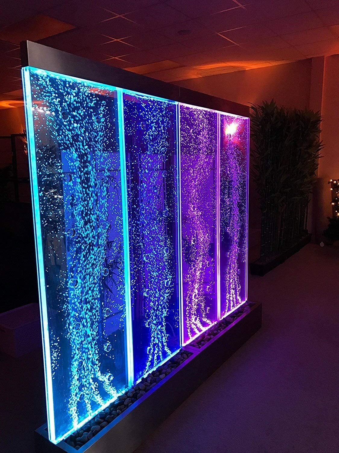 Jersey Home Decor 72 Tall x 80 Wide XXL Dancing Bubble Fountain Color Lights//Remote Ctrl Floor Standing