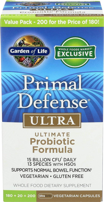 Garden Of Life, Primal Defense Ultra 180 Plus20 200 Veg Capsules