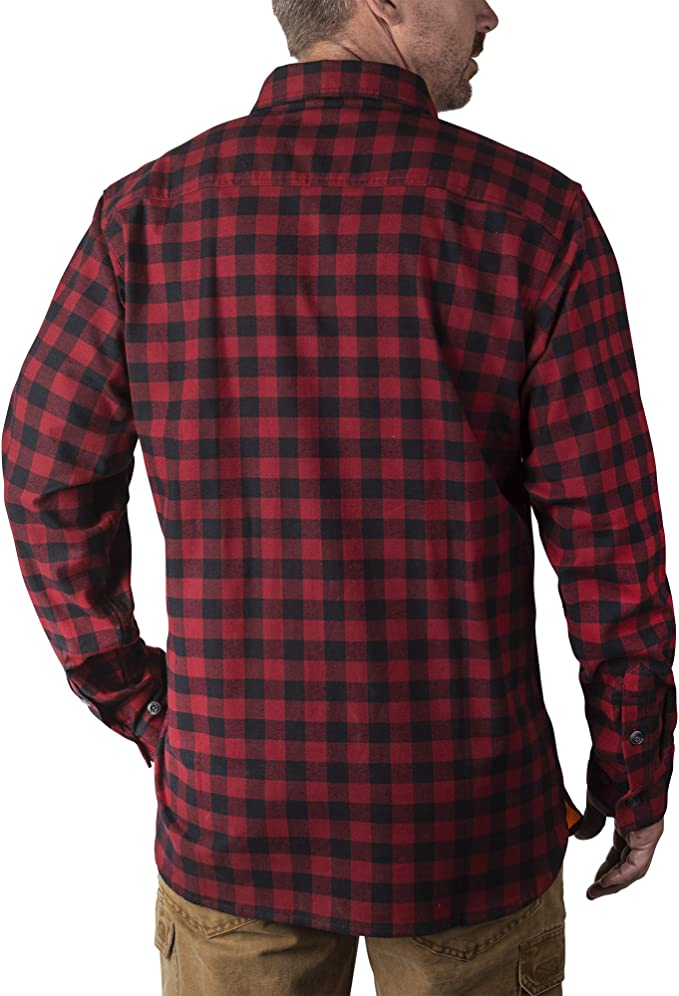 Walls Men S Longhorn Long Sleeve Midweight Stretch Flannel Shirt At Amazon Men S Clothing Store