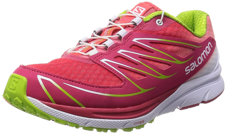 Salomon Women's Sense Mantra 3 W Trail Running Shoe B00PRO4O4M 7 B(M) US|Lotus Pink/White/Granny Green