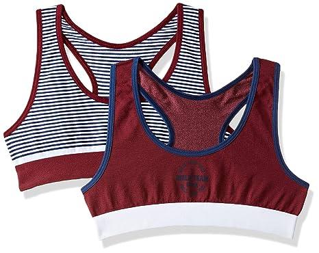48b083283a Marks   Spencer Girls  Regular Fit Plain Sports Bra (Pack of 2 ...