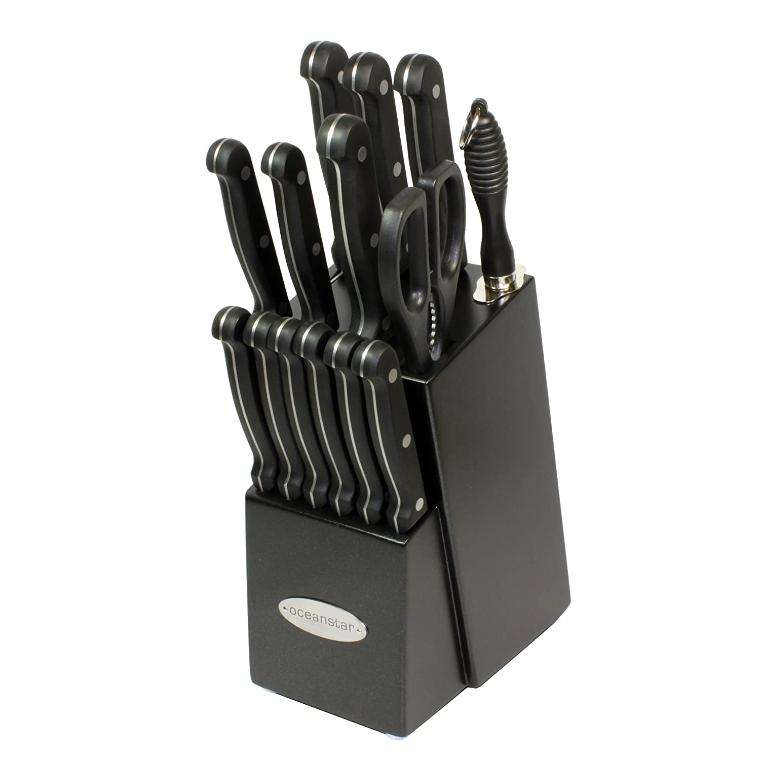 oceanstar ks1194 contemporary 15 piece knife set with