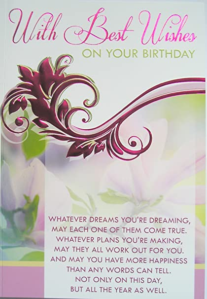 With Best Wishes On Your Birthday Female Christian Catholic