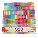 Aen Art Gel Pens 160 Colored Gel Pen Set with 160 Refills Giving 320 Brilliant Gel Colors Perfect for Adult Coloring Books Drawing Painting Writing Marker
