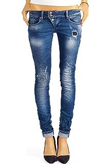 bestyledberlin Damen Jeans Hosen Skinny Röhren Hüftjeans Destroyed j03f 3b12ec267a