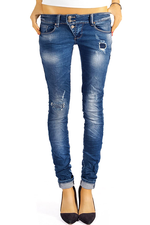 112304f4a8a4c Bestyledberlin pantalon en jean femme, jean skinny taille basse j03f