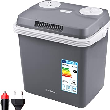 Tzs First Austria 32 Liter Kühlbox WÄrmt Und KÜhlt Thermo Elektrische Kühlbox 12 Volt Und 230 Volt Mini Kühlschrank Für Auto Und Camping Eek A Küche Haushalt