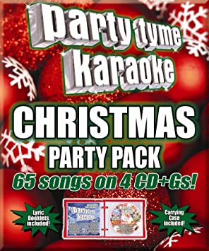 Christmas Karaoke Cd.Party Tyme Christmas Party Pack 65 Song Party Pack