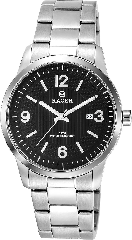 Racer Reloj Analógico para Hombre de Cuarzo con Correa en Acero Inoxidable CM240