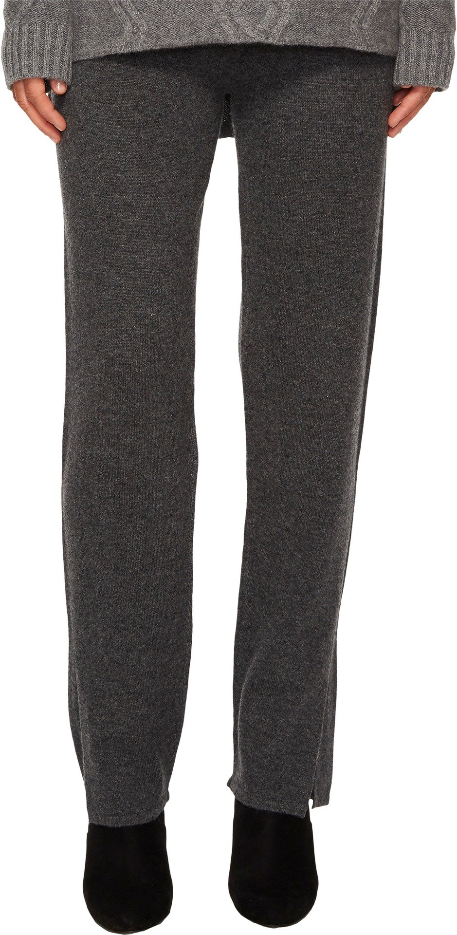 Cashmere In Love Women's Tina Straight Fit Knit Pants Grey Large