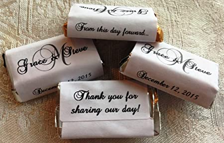 Wedding Decor Wedding Mini Wrapper Miniature Hershey Wrapper Personalized Market Street Lights Hershey/'s Miniatures Chocolate Wrappers