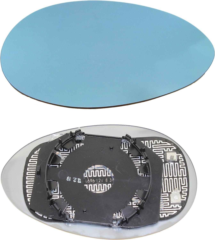 TarosTrade 57-0449-L-45667 Vetro Specchietto Retrovisore Riscaldabile Blu Lato Sinistro