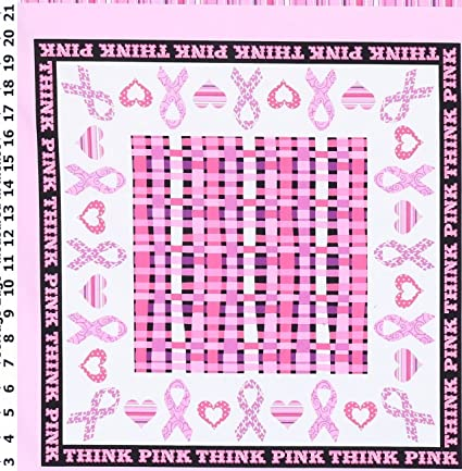 Amazon Com Think Pink Breast Cancer Quilt Panel By Windahm