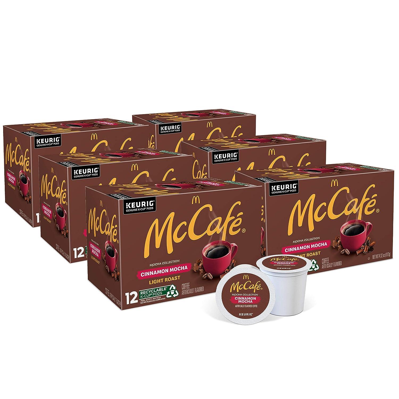 McCafe Cinnamon Mocha, Keurig Single Serve K-Cup Pods, Flavored Light Roast Coffee Pods, 72 Count