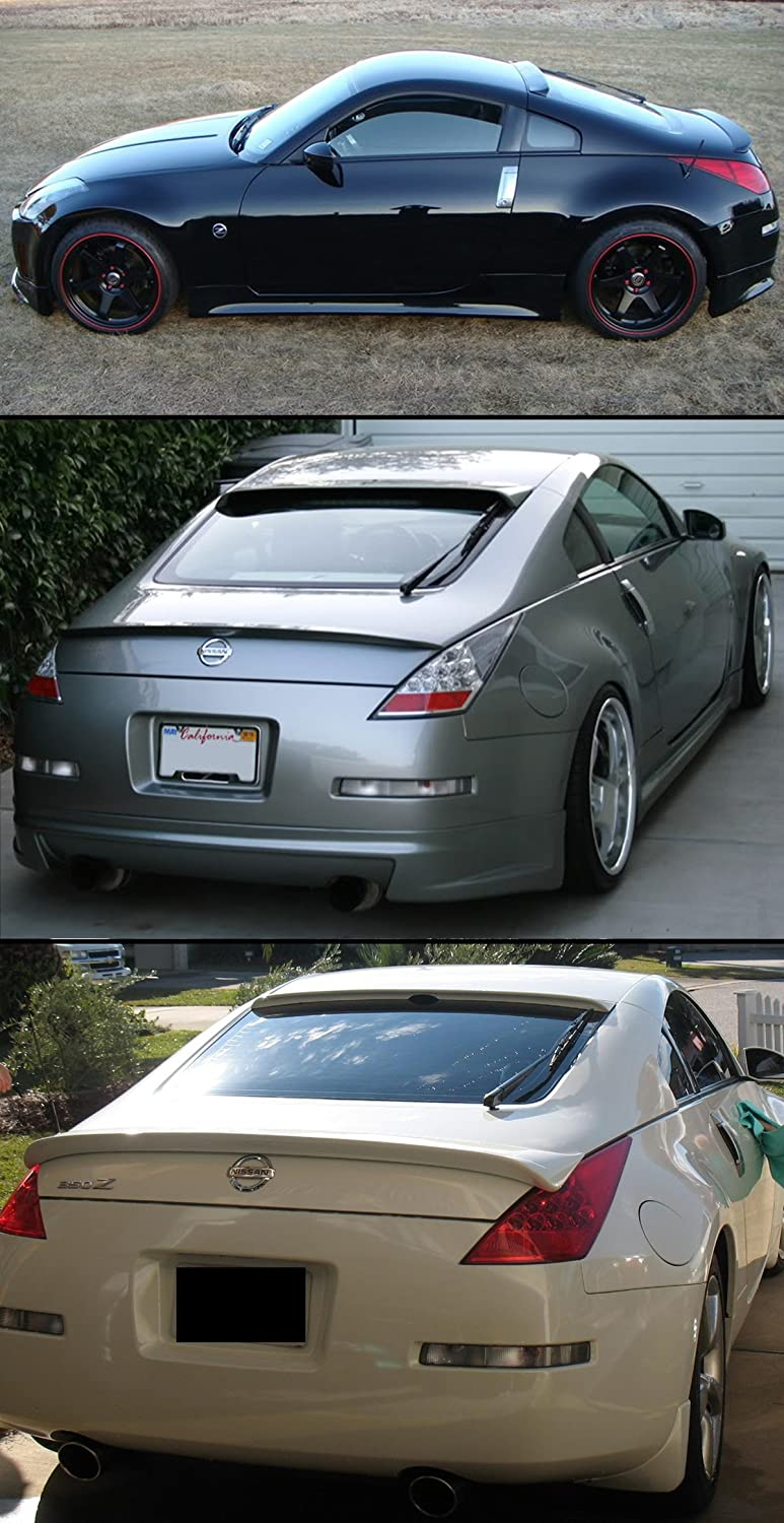 Amazon.com: Cuztom Tuning FOR 2003 2008 NISSAN 350Z Z33 JDM PAINTED GLOSSY  BLACK REAR WINDOW ROOF SPOILER WING: Automotive