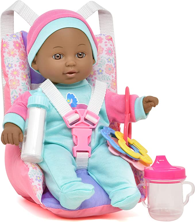 """12"""" Baby Doll Set (Includes Doll, Car Seat, and Accessories)"""