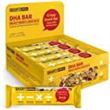 Omega-3 Snack Bars, DHA All Natural Healthy Gluten Free Non-GMO 1.4oz (12 Count)