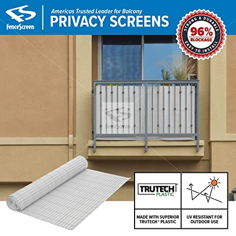 Amazon.com: Balcony Privacy Screen PVC Slat Roll for Apartment ...