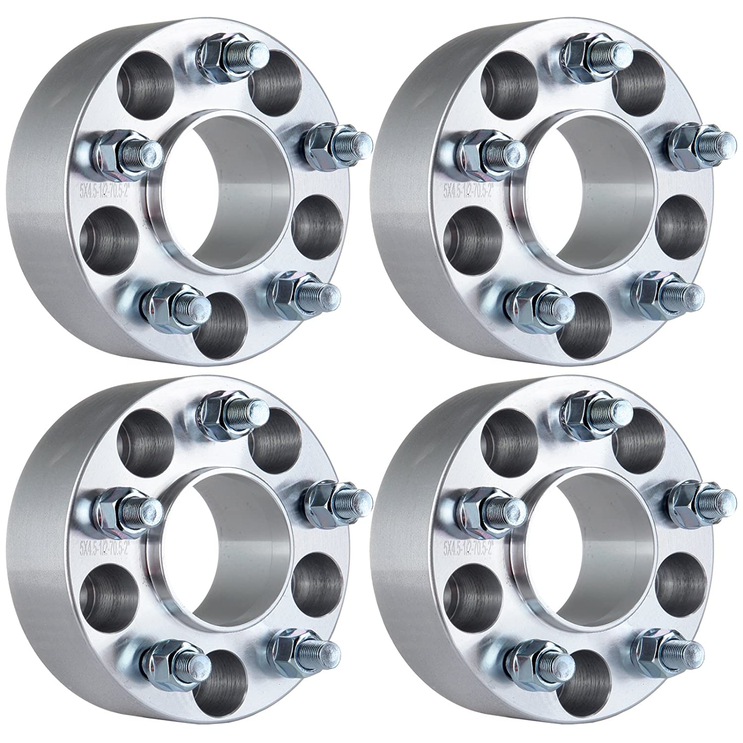 ECCPP 5 lug Hubcentric Wheel Spacers Adapters 2' 5x4.5 to 5x4.5 |5x114.3mm to 5x114.3mm 70.5mm 1/2'x20 4X for Ford Mustang Mach 1 Crown Victoria Edge Ranger Explorer Lincoln Town Car Mercury