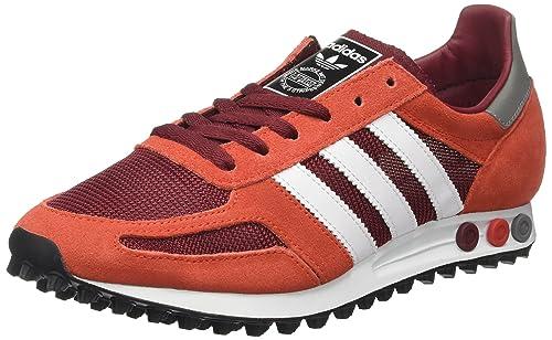 sports shoes a530e 42fd2 adidas Herren La Trainer Og Sneakers, Mehrfarbig (Collegiate Burgundy Ftwr  White Red