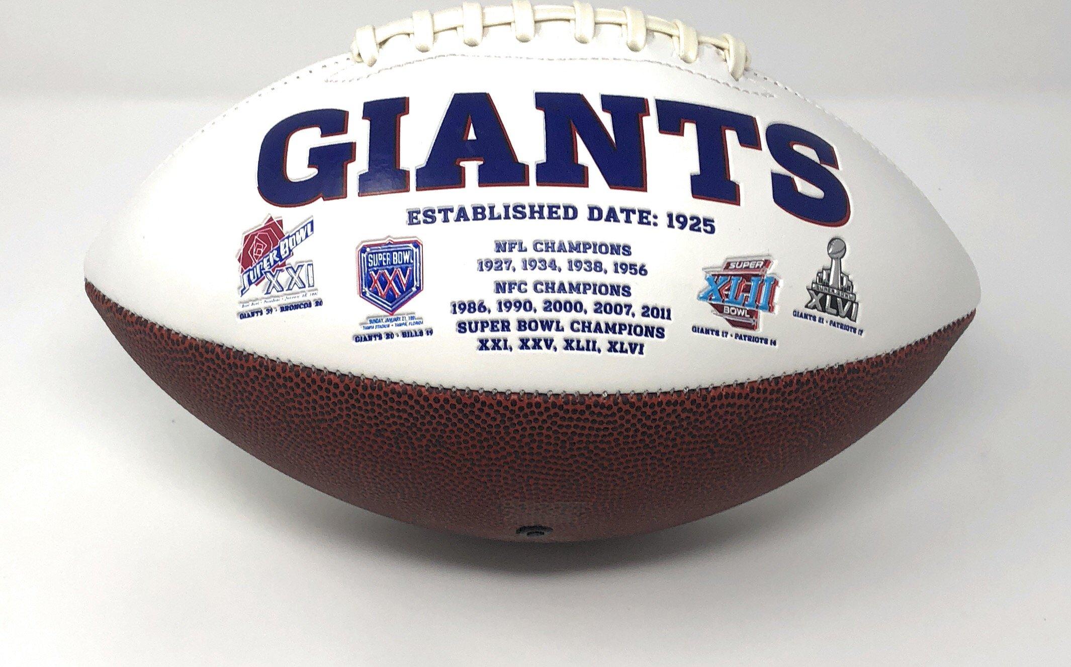 Odell Beckham Jr New York Giants Signed Autograph Emboridered Logo Football Steiner Sports Certified