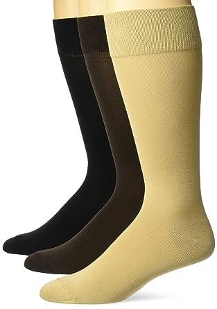 8-12 Black Essentials Mens 5-Pack Solid Dress Socks Shoe Size